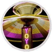 Spinning Yoyo Ride Round Beach Towel