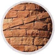 Spiral Bricks Round Beach Towel