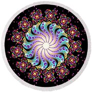 Spiral Dance Round Beach Towel