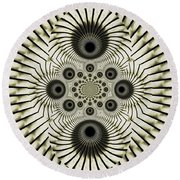 Spiral Eyes Round Beach Towel