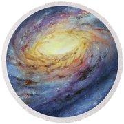 Spiral Galaxy 1 Round Beach Towel