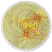 Spiral Mind Connection Round Beach Towel