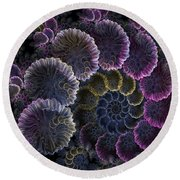 Spiral Of Fay Round Beach Towel