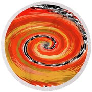 Spiral Of Fire Round Beach Towel
