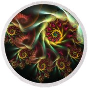 Spiral Of Riches Round Beach Towel
