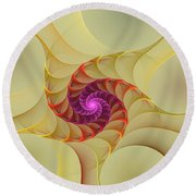 Spiral Rainbow Of Color Round Beach Towel