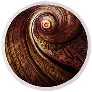 Spiral Staircase In An Old Abby Round Beach Towel