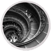 Spiral Stairs Horizontal Round Beach Towel