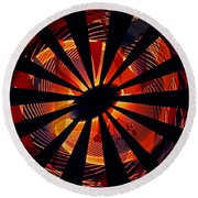 Spiral To Infinity Round Beach Towel