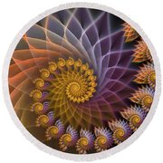 Spiralined Round Beach Towel