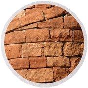 Spiraling Bricks Round Beach Towel