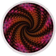 Spiraling Into The Abyss Round Beach Towel
