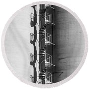 Spiral Stairs Forever Round Beach Towel