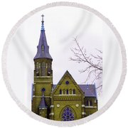 Spire Round Beach Towel