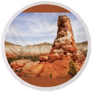 Spire Rocks At Kodachrome Basin State Park Round Beach Towel