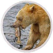 Spirit Bear Take Out  9636 Round Beach Towel