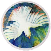 Spirit Fire Round Beach Towel