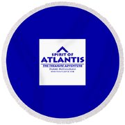 Spirit Of Atlantis Logo Round Beach Towel