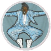 Spirit Of Cab Calloway Round Beach Towel