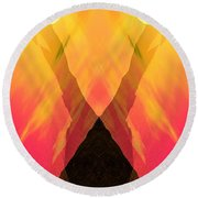 Spirit Of The Mountain Round Beach Towel
