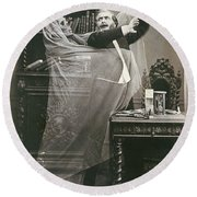 Spirit Photograph, 1863 Round Beach Towel