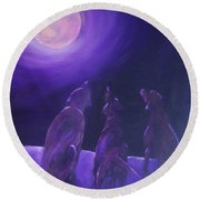 Spirits In The Night Round Beach Towel
