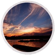 Spirits In The Sky Round Beach Towel