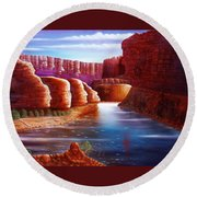 Spirits Of The River Round Beach Towel
