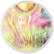 Spirits Of The Sun Round Beach Towel by Linda Sannuti