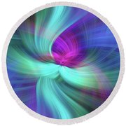 Spiritual Freedom. Mystery Of Colors Round Beach Towel