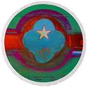 Spiritual Green Round Beach Towel