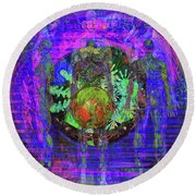 Spiritual Traveler Round Beach Towel
