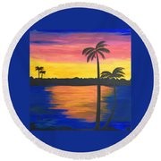 Splash Of Colors Round Beach Towel