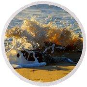 Splash Of Summer - Cape Cod National Seashore Round Beach Towel