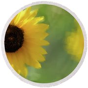 Splash Of Yellow Round Beach Towel