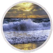 Splash Sunrise IIi Round Beach Towel
