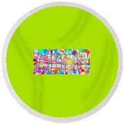 Splatter Paint Round Beach Towel