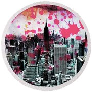 Splatter Pop Round Beach Towel