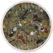 Splattered Round Beach Towel