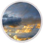 Splendid Cloudscape 1 Round Beach Towel