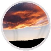 Splendid Cloudscape 11 Round Beach Towel