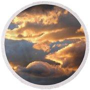 Splendid Cloudscape 2 Round Beach Towel