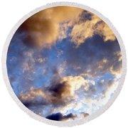 Splendid Cloudscape 3 Round Beach Towel