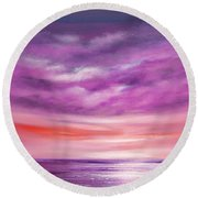 Splendid Purple Round Beach Towel