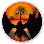 Splintered  Sunlight Round Beach Towel