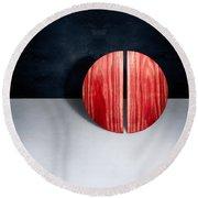 Split Circle Red Round Beach Towel