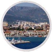 Split Croatia's Waterfront Round Beach Towel