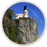 Split Rock 2 Round Beach Towel by Marty Koch