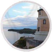Split Rock Lighthouse Four Round Beach Towel