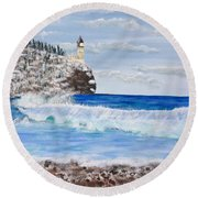 Split Rock Round Beach Towel
